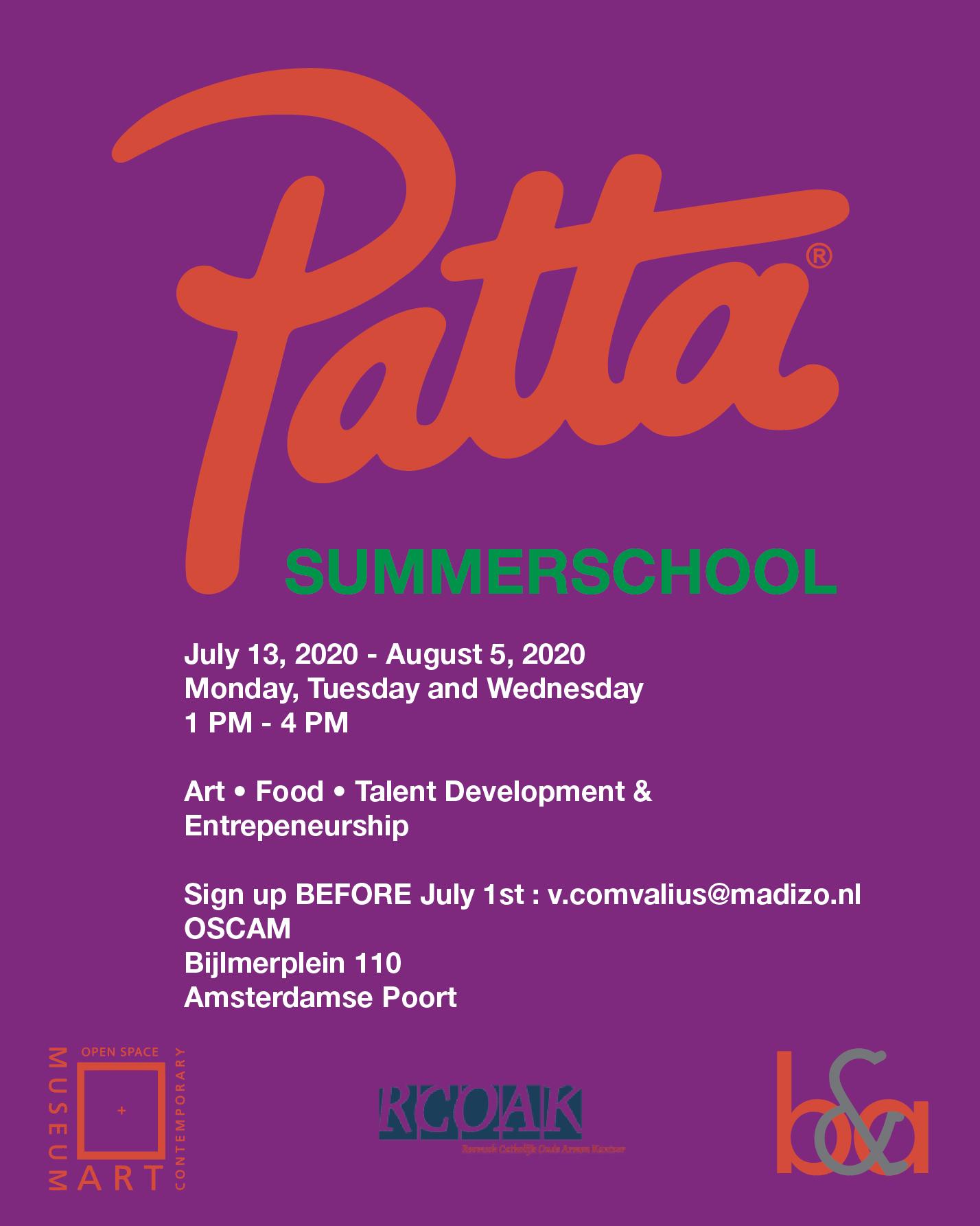 OSCAM x Patta Summerschool