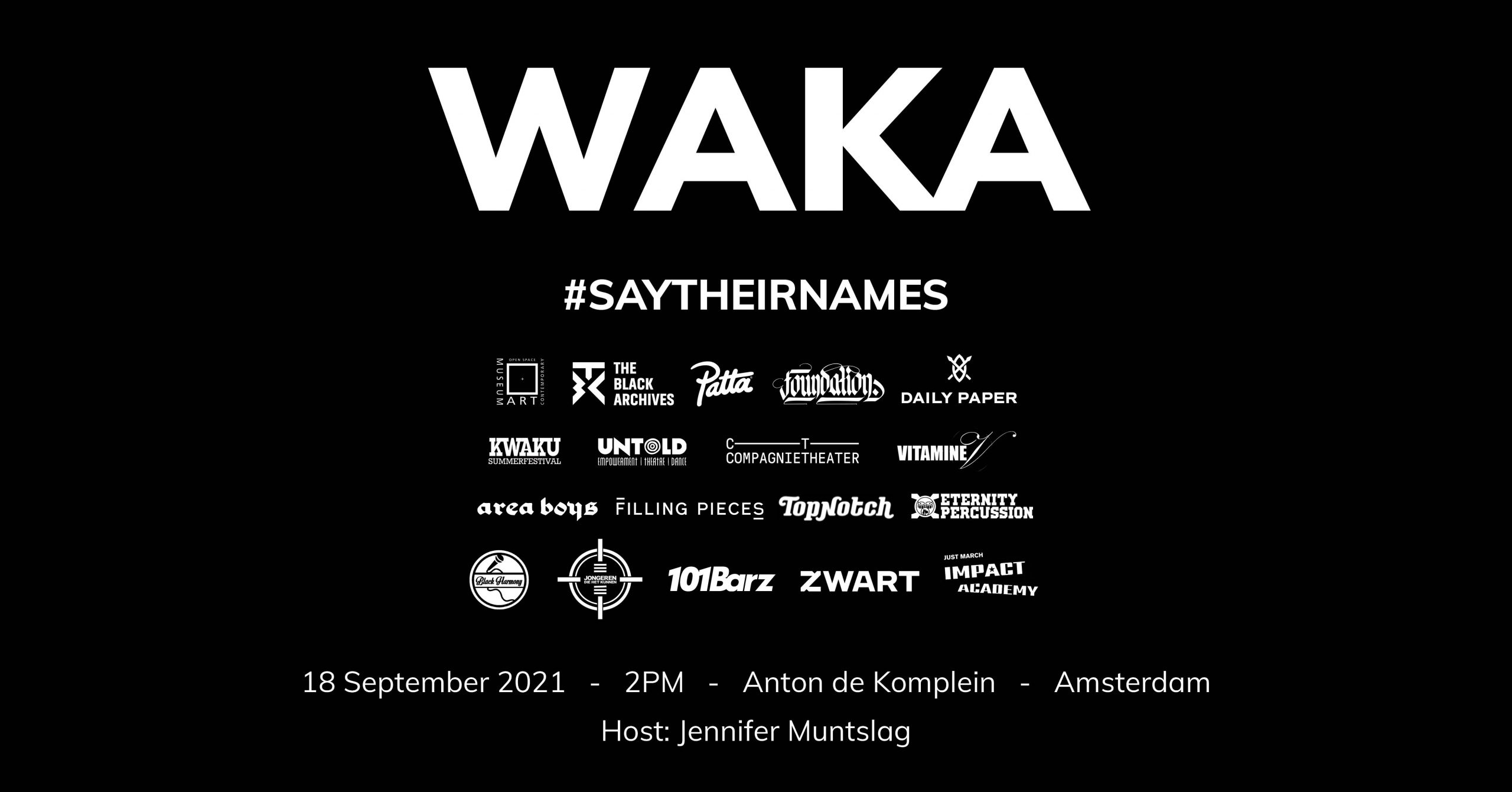 WAKA – Say Their Names